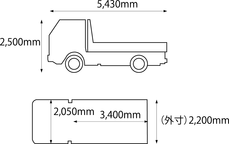 ダンプ 寸法 4t